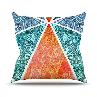 KESS InHouse Pyramids of Giza Throw Pillow; 26'' H x 26'' W