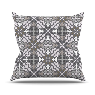KESS InHouse Let In Snow Throw Pillow; 16'' H x 16'' W