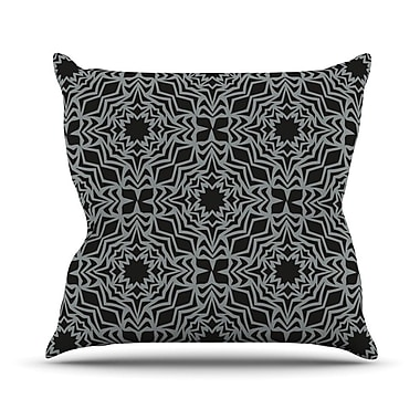 KESS InHouse Optical Feast Throw Pillow; 16'' H x 16'' W