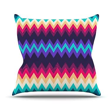 KESS InHouse Surf Chevron Throw Pillow; 16'' H x 16'' W