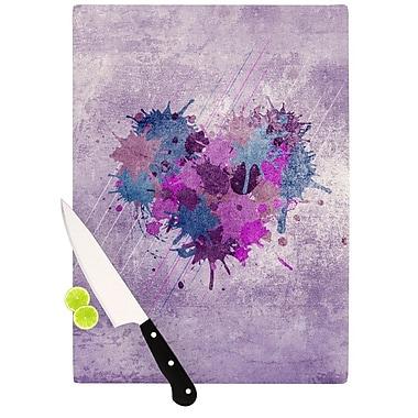 KESS InHouse Painted Heart Cutting Board; 8.25'' H x 11.5'' W x 0.25'' D