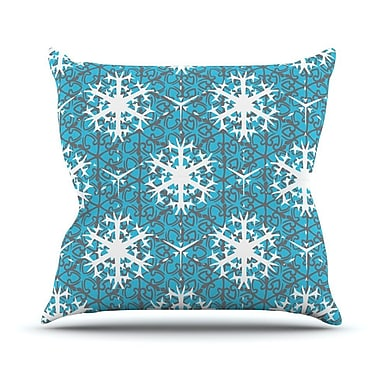 KESS InHouse Precious Flakes Throw Pillow; 16'' H x 16'' W