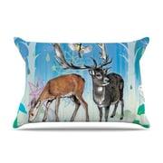 KESS InHouse Glade Pillow Case; Standard