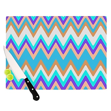 KESS InHouse Girly Surf Chevron Cutting Board; 8.25'' H x 11.5'' W x 0.25'' D
