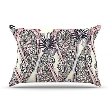 KESS InHouse Inky Paisley Bloom Pillow Case; Standard