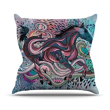 KESS InHouse Poetry In Motion Throw Pillow; 16'' H x 16'' W
