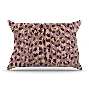 KESS InHouse Leopard Print Pillow Case; Standard
