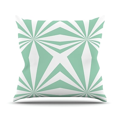 KESS InHouse Starburst Throw Pillow; 16'' H x 16'' W