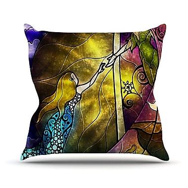 KESS InHouse Fairy Tale Off To Neverland Throw Pillow; 16'' H x 16'' W
