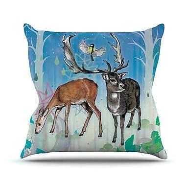 KESS InHouse Glade Throw Pillow; 18'' H x 18'' W