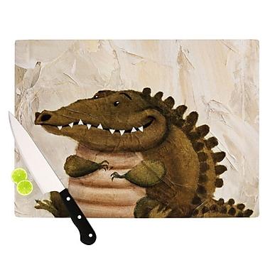 KESS InHouse Smiley Crocodiley Cutting Board; 11.5'' H x 15.75'' W x 0.15'' D