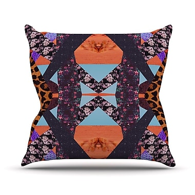 KESS InHouse Pillow Kaleidoscopic Throw Pillow; 16'' H x 16'' W