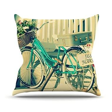 KESS InHouse Just Married Throw Pillow; 16'' H x 16'' W