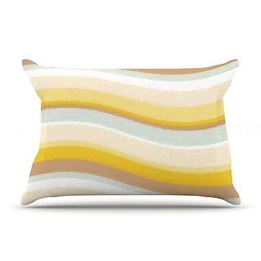 KESS InHouse Desert Waves Pillow Case; Standard