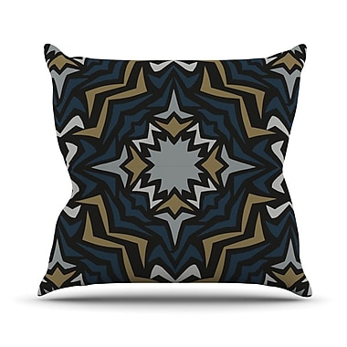 KESS InHouse Winter Fractals Throw Pillow; 20'' H x 20'' W