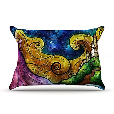 KESS InHouse Starry Lights Pillow Case; Standard