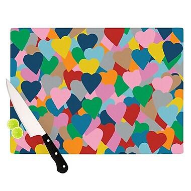 KESS InHouse More Hearts Cutting Board; 11.5'' H x 15.75'' W x 0.15'' D