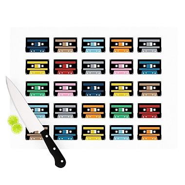 KESS InHouse Rainbow Tapes Cutting Board; 8.25'' H x 11.5'' W x 0.25'' D