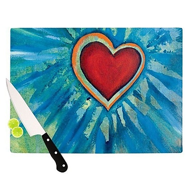 KESS InHouse Love Shines On Cutting Board; 8.25'' H x 11.5'' W x 0.25'' D