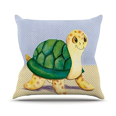KESS InHouse Slow And Steady Throw Pillow; 18'' H x 18'' W