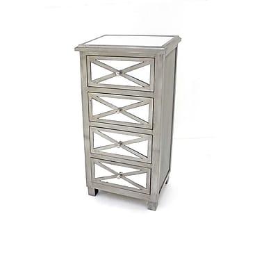 Teton Home 4 Drawer Wood Cabinet