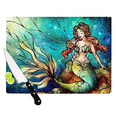 KESS InHouse Serene Siren Cutting Board; 8.25'' H x 11.5'' W x 0.25'' D