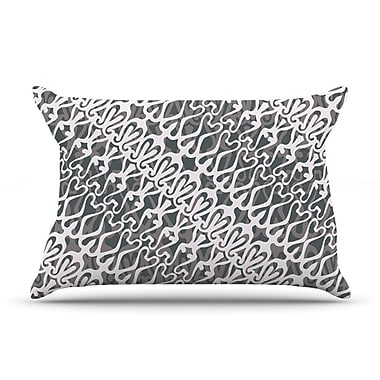 KESS InHouse Silver Lace Pillow Case; Standard