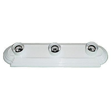 Whitfield Lighting Victor 3-Light Bath Bar; White