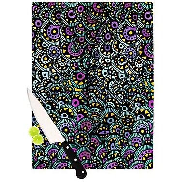 KESS InHouse Peacock Tail Cutting Board; 11.5'' H x 15.75'' W x 0.15'' D