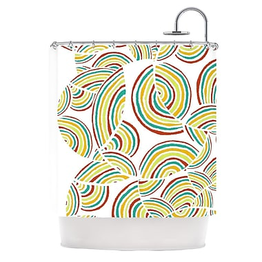 KESS InHouse Rainbow Sky Shower Curtain