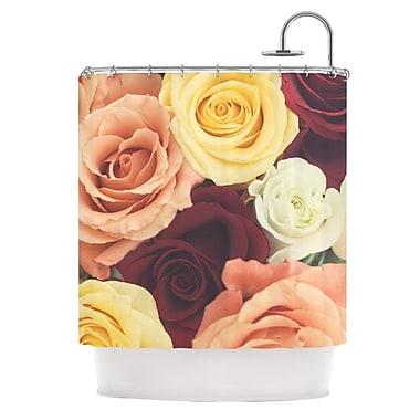 KESS InHouse Vintage Roses Shower Curtain