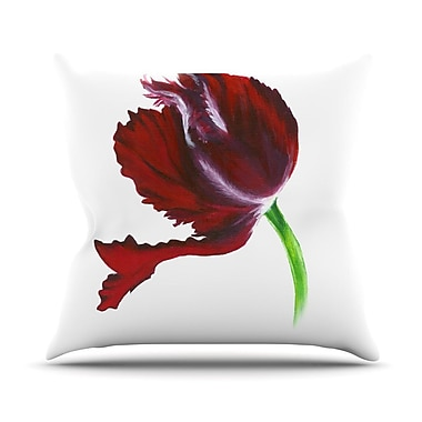 KESS InHouse Dark Purple Tulip Throw Pillow; 20'' H x 20'' W