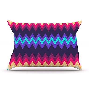 KESS InHouse Surf Chevron Pillow Case; King