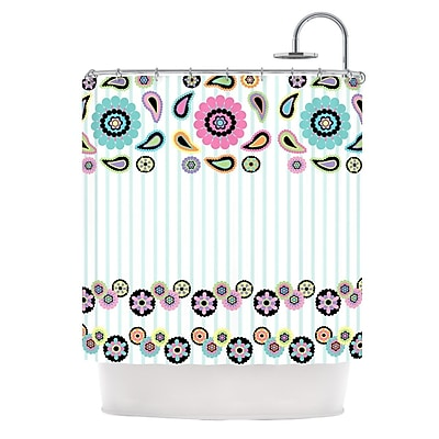 KESS InHouse Paisley Party Shower Curtain
