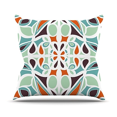 KESS InHouse Stained Glass Throw Pillow; 26'' H x 26'' W