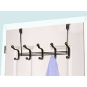 Home Basics 5 Hook over the Door Coat Rack