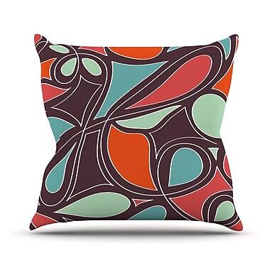 KESS InHouse Retro Swirl Outdoor Throw Pillow; 18'' H x 18'' W x 3'' D