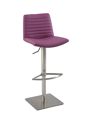 Chintaly Adjustable Height Bar Stool; Purple WYF078277068053
