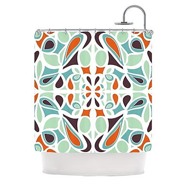 KESS InHouse Stained Glass Shower Curtain