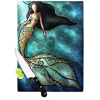 KESS InHouse Mermaid Cutting Board; 11.5'' H x 15.75'' W x 0.15'' D