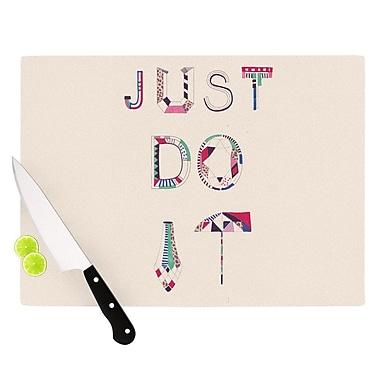KESS InHouse Just Do It Cutting Board; 8.25'' H x 11.5'' W x 0.25'' D