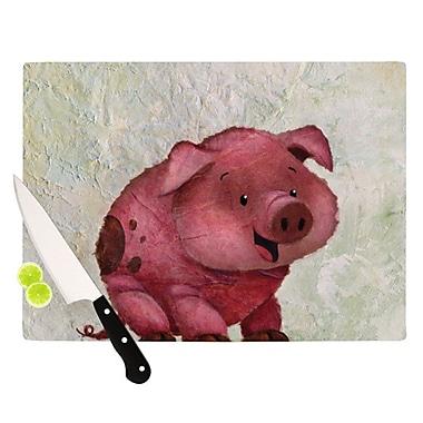 KESS InHouse This Little Piggy Cutting Board; 8.25'' H x 11.5'' W x 0.25'' D