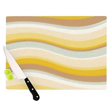 KESS InHouse Desert Waves Cutting Board; 8.25'' H x 11.5'' W x 0.25'' D