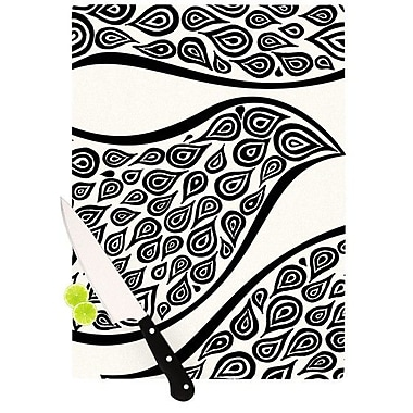 KESS InHouse Bird In Disguise White Pattern Cutting Board; 8.25'' H x 11.5'' W x 0.25'' D