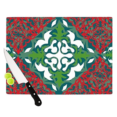 KESS InHouse Lace Flakes Cutting Board; 8.25'' H x 11.5'' W x 0.25'' D