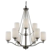 TransGlobe Lighting Mod Space 9-Light Shaded Chandelier; Rubbed Oil Bronze