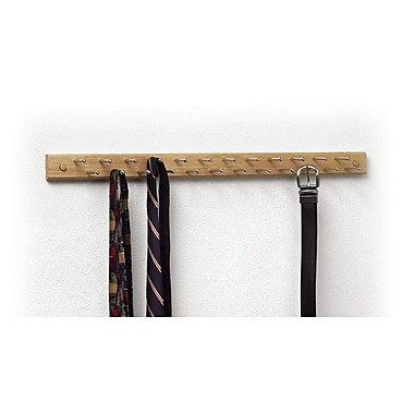 Spectrum Diversified Tie/Belt Wood Hanging Organizer