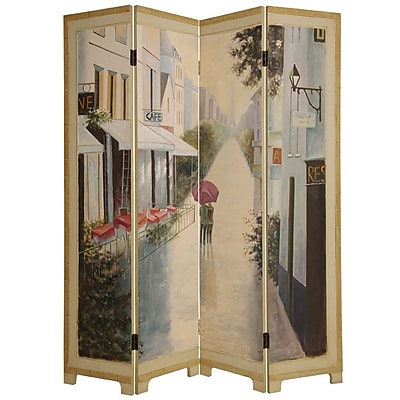 Screen Gems 72'' x 64'' Paris Promenade 4 Panel Room Divider