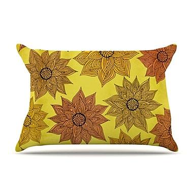 KESS InHouse Its Raining Flowers Pillow Case; Standard