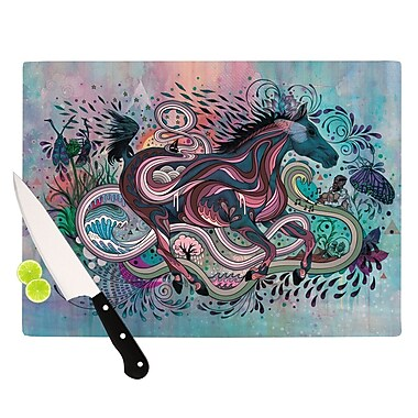 KESS InHouse Poetry in Motion Cutting Board; 8.25'' H x 11.5'' W x 0.25'' D